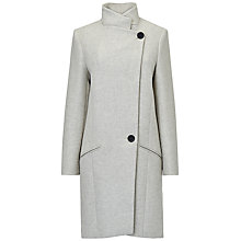 Buy Jaeger Vase Shaped Twill Coat, Light Grey Online at johnlewis.com