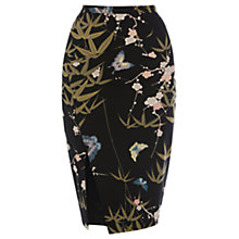 Buy Oasis Winter Butterfly Pencil Skirt, Multi Black Online at johnlewis.com