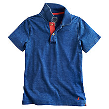 Buy Little Joule Boys' Jarett Washed Polo Shirt, Indigo Online at johnlewis.com