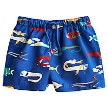 Buy Little Joule Boys' Ocean Fish Swim Shorts, Blue Online at johnlewis.com