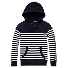 Buy Tommy Hilfiger Boys' Hampton Hoodie, Navy/White Online at johnlewis.com