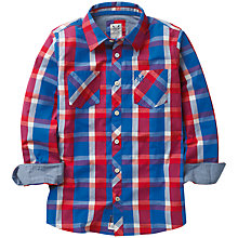 Buy Crew Clothing Boys' Bright Check Shirt, Red/Blue Online at johnlewis.com