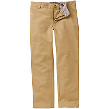 Buy Crew Clothing Boys' Chino Trousers, Tan Online at johnlewis.com