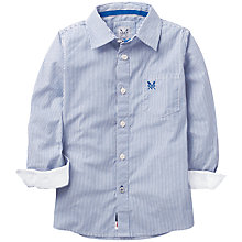 Buy Crew Clothing Boys' Stripe Classic Shirt, Pale Blue Online at johnlewis.com