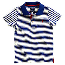 Buy Little Joule Boys' Stripe Polo Shirt, Blue/Multi Online at johnlewis.com