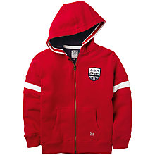 Buy Crew Clothing Boys' Daniel Full Zip Hoodie, Red Online at johnlewis.com