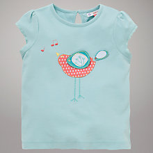 Buy John Lewis Bird Applique T-Shirt, Light Blue Online at johnlewis.com