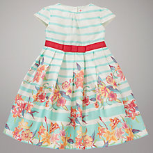 Buy John Lewis Striped Floral Dress, Cream/Multi Online at johnlewis.com