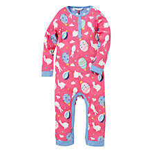 Buy John Lewis Bunnies & Balloons Sleepsuit, Pink Online at johnlewis.com
