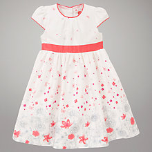 Buy John Lewis Floral Print Dress, Cream/Pink Online at johnlewis.com