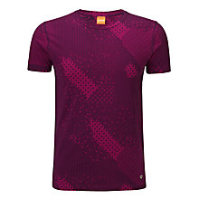 Buy BOSS Orange Digital Print T-Shirt, Raspberry Online at johnlewis.com