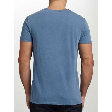 Buy Boss Orange Townley Acid Wash T-Shirt, Sky Blue Online at johnlewis.com