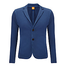 Buy BOSS Orange Wayne Jersey Blazer, Bright Blue Online at johnlewis.com