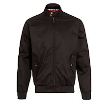 Buy Ben Sherman Staples Harrington Jacket, Jet Black Online at johnlewis.com