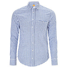 Buy Boss Orange Efolke Gingham Check Shirt, Navy/White Online at johnlewis.com