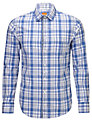 BOSS Orange Eslimye Check Shirt, Blue/White