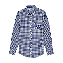 Buy Ben Sherman Classic Gingham Long Sleeve Shirt, Blue Depths Online at johnlewis.com