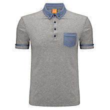 Buy BOSS Orange Patch Pocket Polo Top Online at johnlewis.com