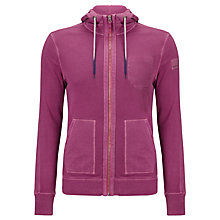 Buy Boss Orange Ztylo Jersey Hoodie, Raspberry Online at johnlewis.com