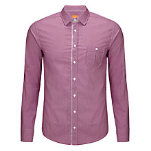 Buy BOSS Orange Eslimye Geo Print Shirt, Berry Online at johnlewis.com