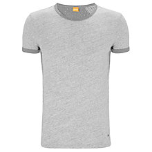 Buy BOSS Orange Tomte Crew Neck T-Shirt, Light Grey Online at johnlewis.com