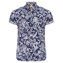 Buy Boss Orange Ezippoe Floral Short Sleeve Shirt, Navy Online at johnlewis.com
