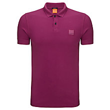 Buy BOSS Orange Pascha Polo Shirt, Raspberry Online at johnlewis.com