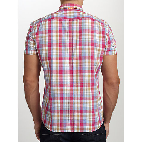 Buy BOSS Orange Ezippoe Short Sleeve Check Shirt Online at johnlewis.com