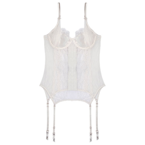 Buy Elle Macpherson Intimates Committed Love Basque, Retro Cream Online at johnlewis.com