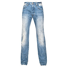 Buy G-Star Raw 3301 Straight Leg Jeans, Retton Denim Online at johnlewis.com