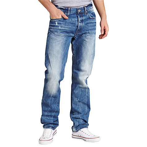 Buy G-Star Raw Wisk Straight Jeans, Wisk Denim Online at johnlewis.com