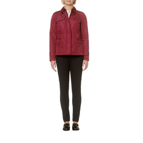 Buy Aquascutum Corduroy Collar Quilted Jacket Online at johnlewis.com
