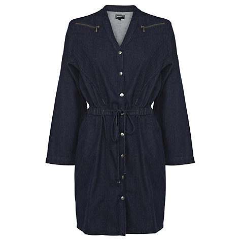 Buy Warehouse Chevron Seam Dress, Indigo Denim Online at johnlewis.com