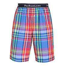 Buy Polo Ralph Lauren Bright Check Lounge Shorts, Multi Online at johnlewis.com