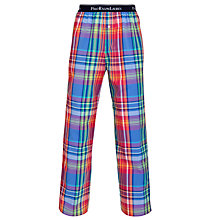Buy Polo Ralph Lauren Check Cotton Lounge Pants, Multi Online at johnlewis.com