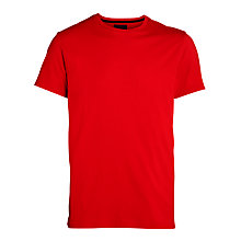 Buy Polo Ralph Lauren Logo Short Sleeve Lounge T-Shirt, Red Online at johnlewis.com