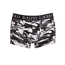 Buy Polo Ralph Lauren Camo Print Trunks, Grey Online at johnlewis.com