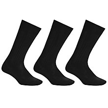 Buy John Lewis Wool Long Socks, Pack of 3 Online at johnlewis.com