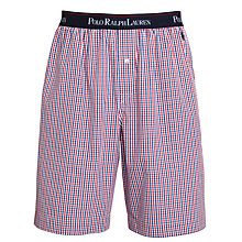 Buy Polo Ralph Lauren Check Lounge Shorts, Red/Navy Online at johnlewis.com