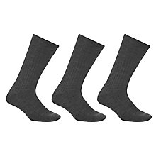 Buy John Lewis Merino Wool Short Socks, Pack of 3 Online at johnlewis.com