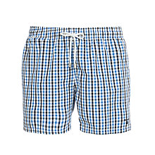 Buy Gant Gingham Check Swim Shorts, Blue Online at johnlewis.com