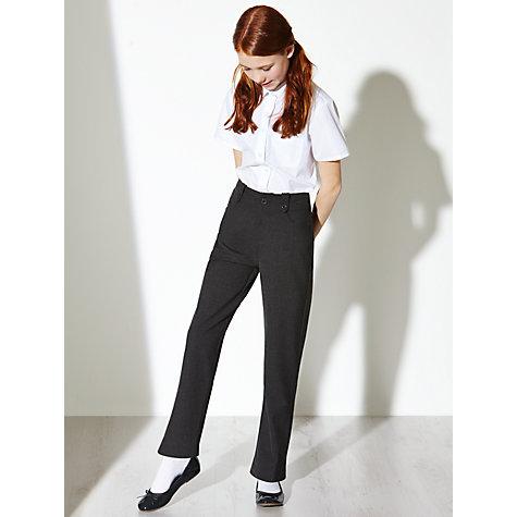 John Lewis Girls' Fashion Senior School Trousers , Grey