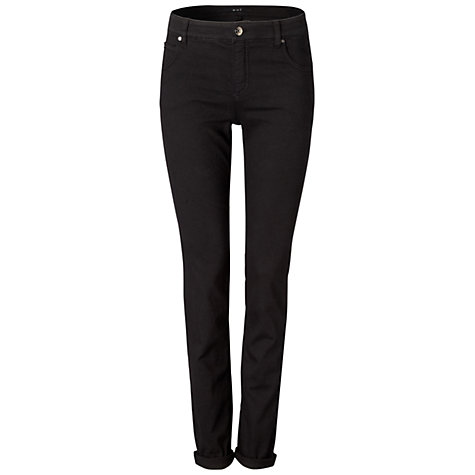 Buy Oui Sienna Jeans, Black Online at johnlewis.com