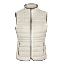 Buy Gerry Weber Pearlised Gilet, Stone Online at johnlewis.com