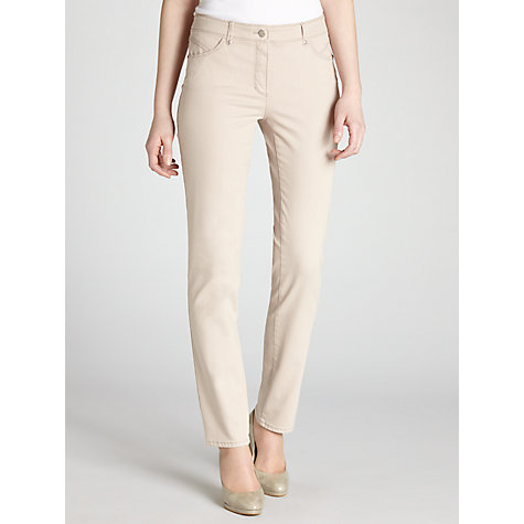 Buy Gerry Weber Straight Leg Jeans, Taupe Online at johnlewis.com