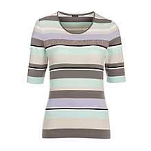 Buy Gerry Weber Sequin Jersey Top, Multi Online at johnlewis.com