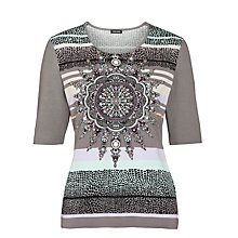 Buy Gerry Weber Placement Print T-Shirt, Multi Online at johnlewis.com
