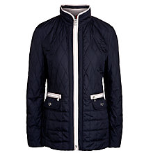 Buy Gerry Weber Diamond Quilted Jacket, Navy/Stone Online at johnlewis.com