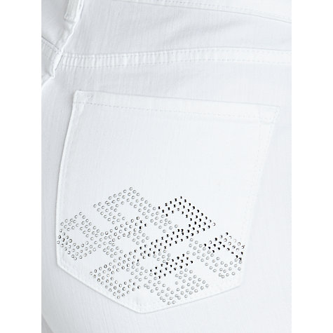 Buy NYDJ Embellished Straight Leg Jeans, White Online at johnlewis.com