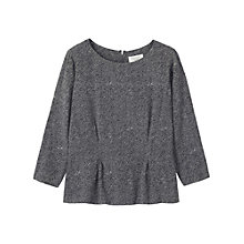 Buy Toast Printed Top, Grey Blue/ Antique White Online at johnlewis.com